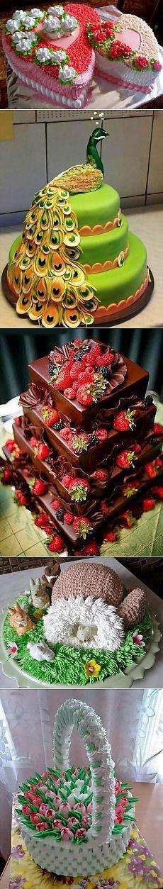 Красивые торты к дню Влюбленных и не только..