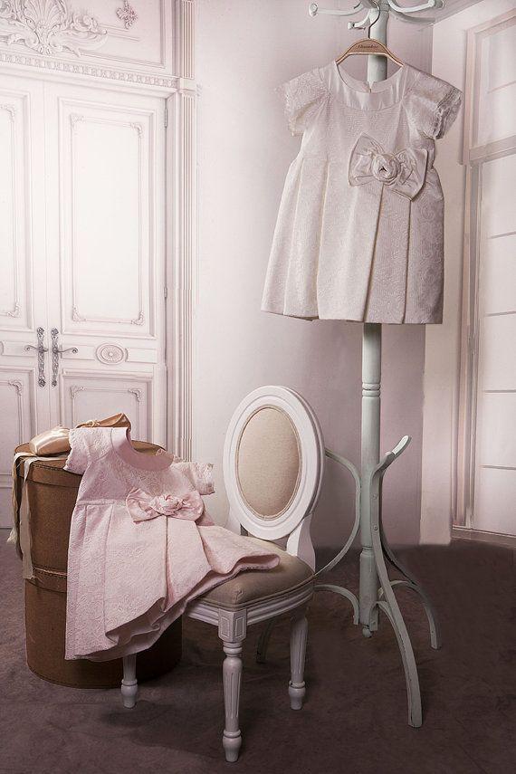 Christening Gown Christening Dress Silk by StyledByAlexandros