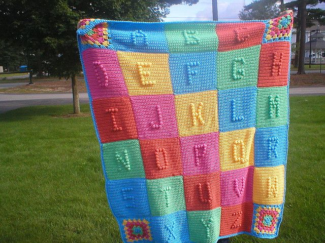 I love this blanket. I've done loads with names on but can't wait to make a full alphabet one.