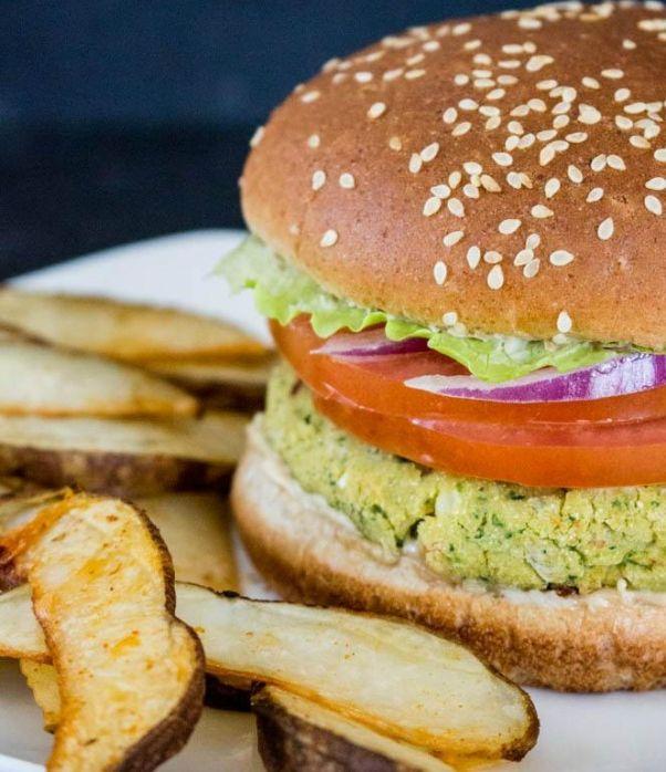 12 meatless veggie burgers that taste far better than meat Falafel_Burger_Fries