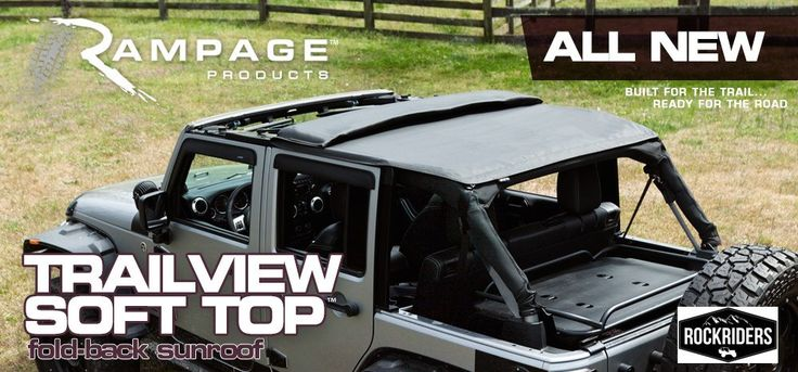 2007-2016 Jeep Wrangler Unlimited Rampage TrailView Frameless Soft Top Kit