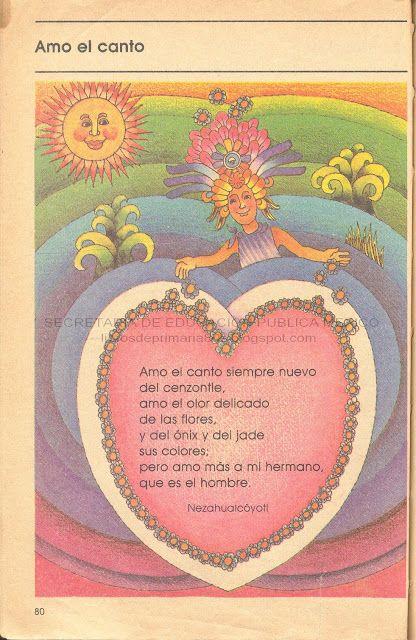 Libros de Primaria de los 80's: poesias