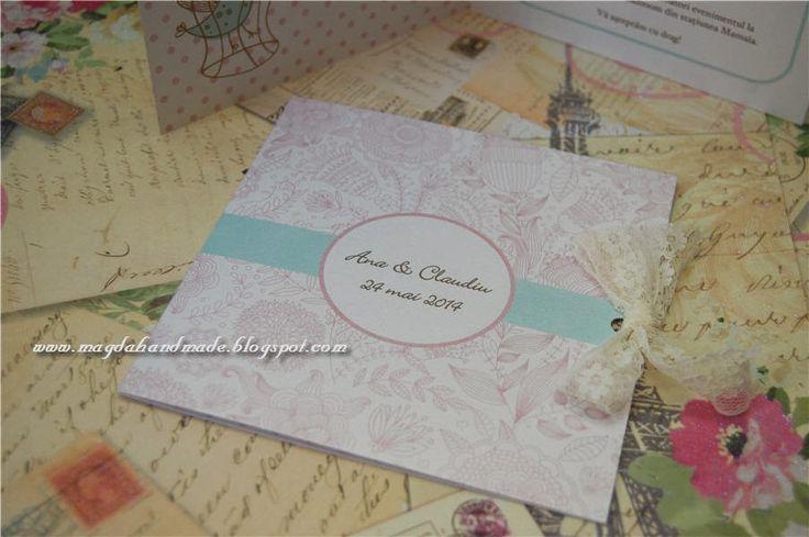 Handmade Wedding Invitations - Shabby Chic 1