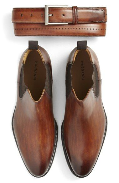 Magnanni Belt & Chelsea Boot (Men)