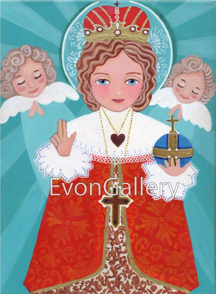 Infant Jesus of Prague 8 x 10 in Icon of Saint Michael hand