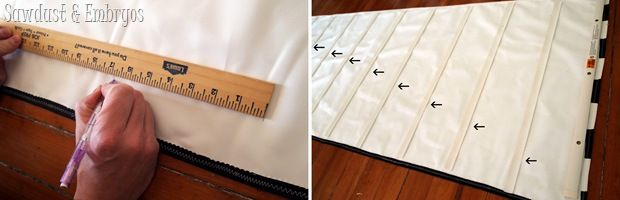 Make Roman Shades out of existing mini-blinds! {Sawdust and Embryos}