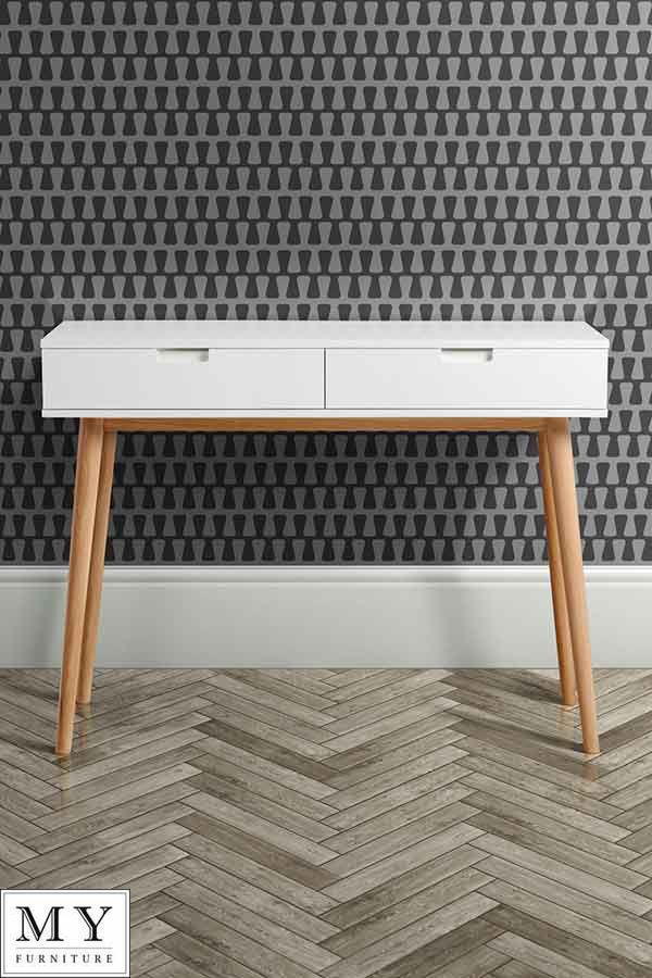 Details About Tretton Retro Scandi Solid Oak Dressing Table Console In 2019 Shelves And