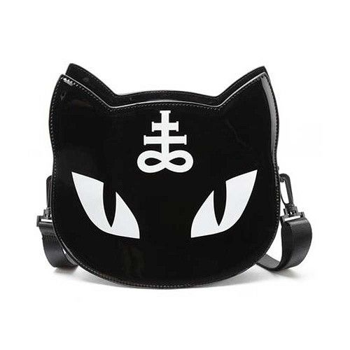 Lucipurr katten schoudertas zwart - Rock Metal Gothic Pentagram - One Size - Killstar