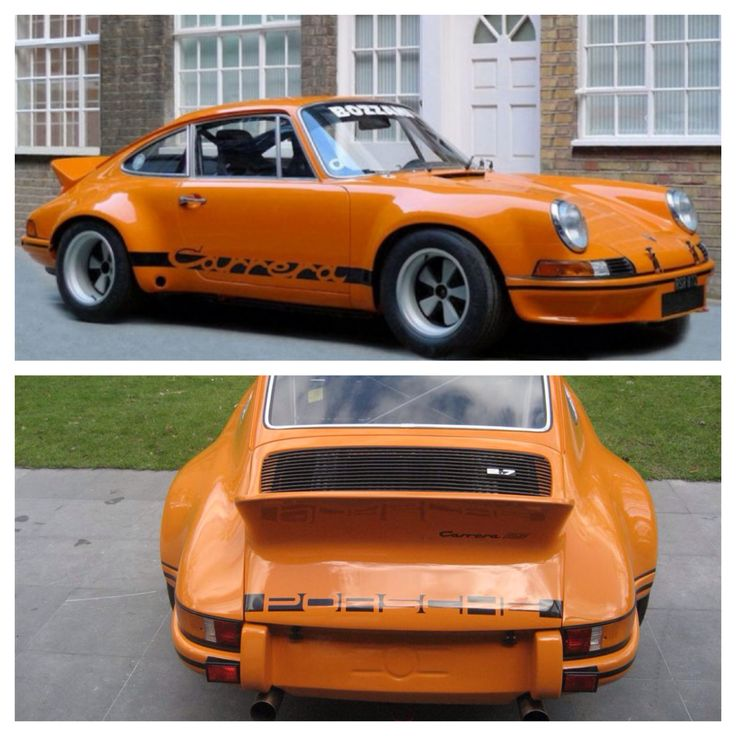 1973 Porsche 911 RSR in Signal Orange. Original sticker price of $22,500. Happy hunting. I'm currently searching for this very rare gem of a car.