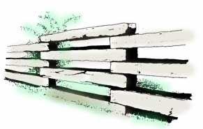 Railroad ties Creative Landscaping tie fence