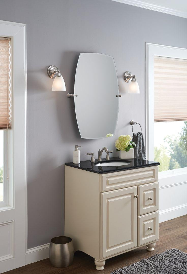 Brushed nickel bathroom mirror - Rockcliff Brushed Nickel Mirror Bh5292bn Moen