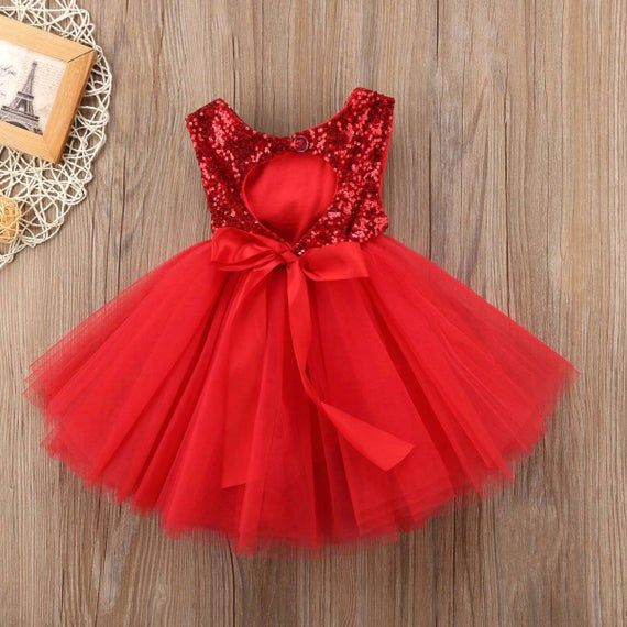 Red Sequins Mesh Toddler Girl Birthday Party Ruffled Tutu Dress Princess Girls Birthday Outfit Wedding Dress For Girls In 2021 Kids Dress Childrens Dress Tulle Party Dress