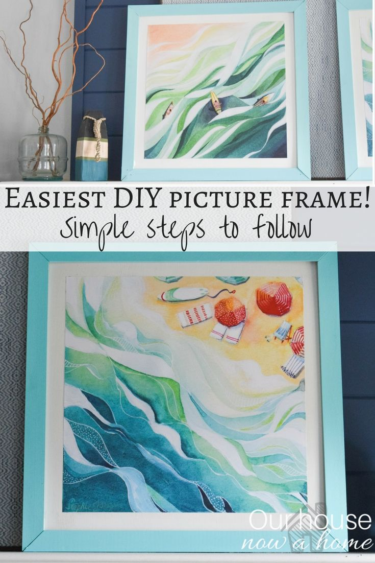How to create a DIY picture frame - Turning poster prints into works of art. Simple tutorial for this low cost way to decorate your home with custom art!
