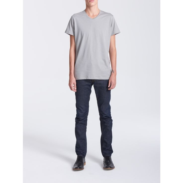 V-Neck Grey T-shirt - Men