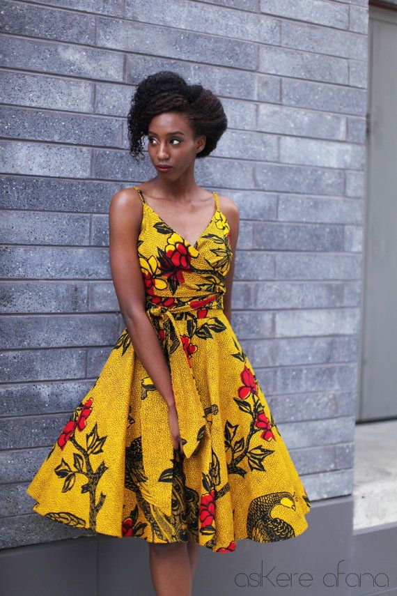 THE LOLA Midi Circle Skirt in Golden Yellow by AsikereAfana