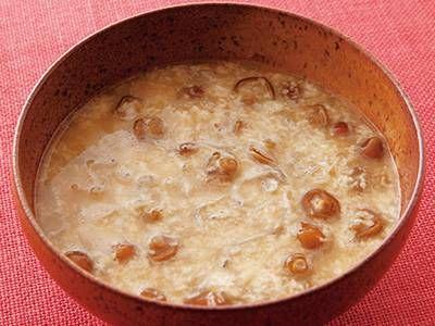 じゃことなめこのとろろ汁レシピ 講師は高城 順子さん|なめこと大和芋で、ネバネバの食感に。じゃこのうまみが、効いている一品です。