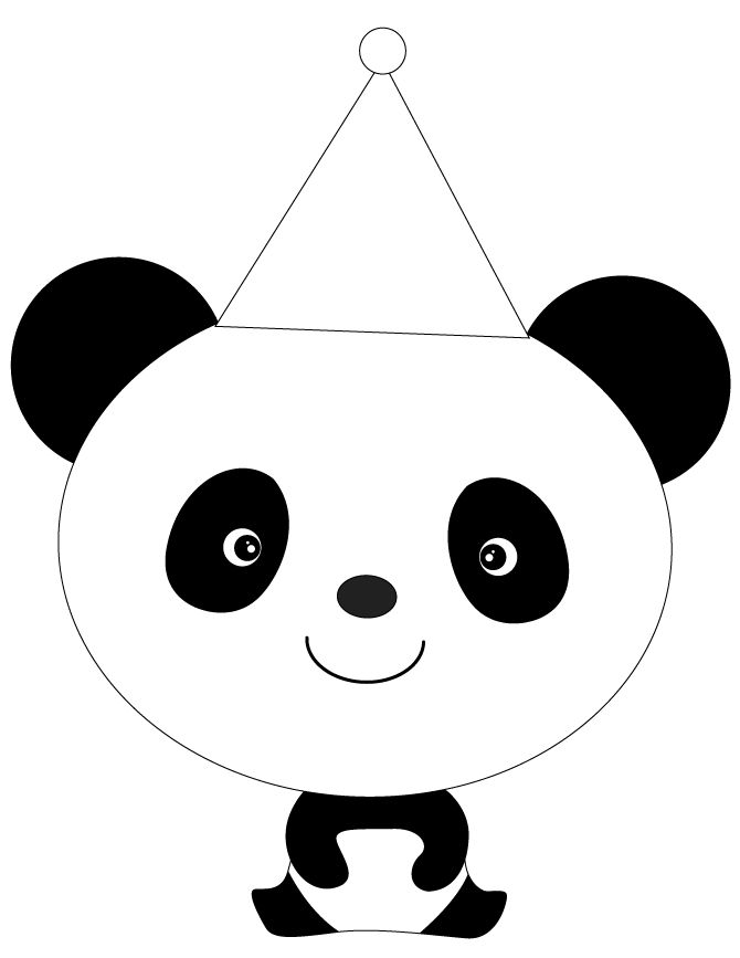 Printable Cartoon Panda