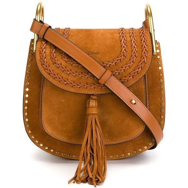 Chloe Small Suede Hudson Bag (46,925 HNL) ❤ liked on Polyvore featuring bags, handbags, shoulder bags, purses, crossbody, kirna zabete, crossbody purse, purse crossbody, brown crossbody and brown purse