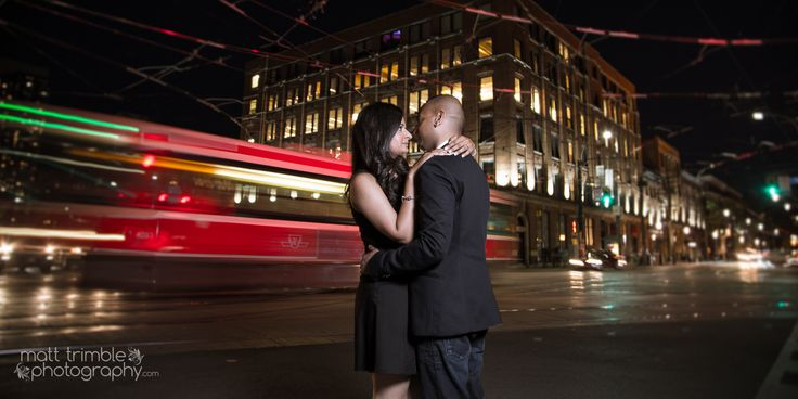 An amazing evening engagement photography session in Downtown Toronto. Click through to the blog to see more of Bhakti and Eza!