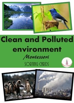 ~~ Earth Day - Montessori Polluted and Clean Environment Sorting Cards ~~These cards that are designed to teach kids about pollution of the environment.There is a version of cards with color borders and without them. The material has a control of error.The material consists of - 2 label cards (polluted environment, clean environment)- 10 pictures of environment pollution- 10 pictures of clean environmentThe file includes detailed instruction for using of the material.Material is created and…