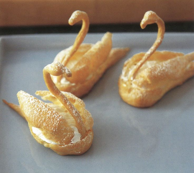 You can serve these swans as dessert or you can put one on ...
