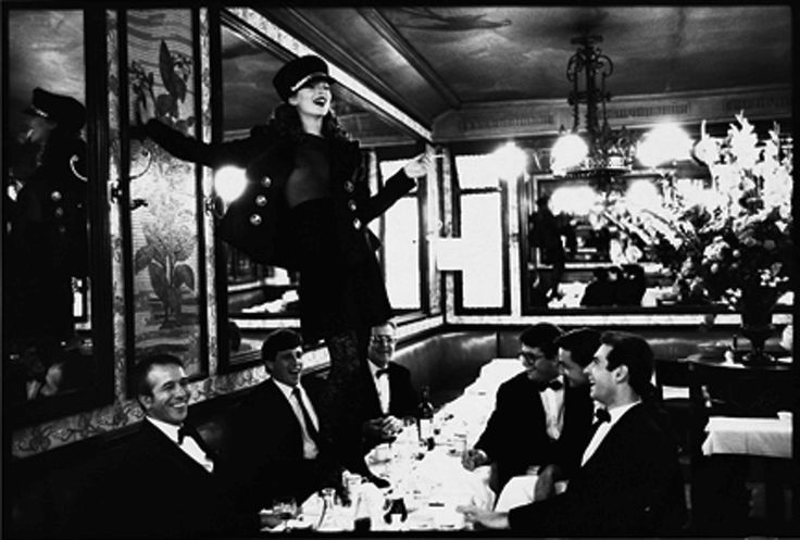 Kate Moss at Café Lipp, Paris, VOGUE Italia, 1993   From a unique collection of black and white photography at https://www.1stdibs.com/art/photography/black-white-photography/