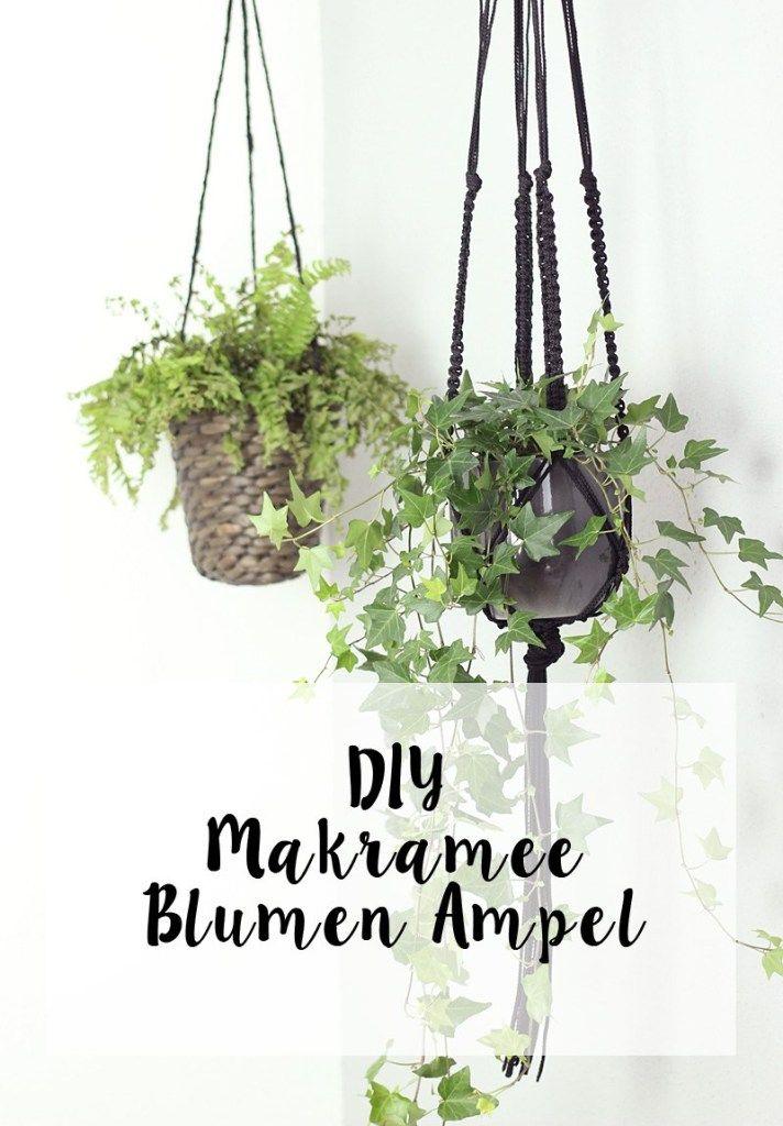 Perfekt DIY / Makramee Blumen Ampel Selbst Geknüpft   Me Melanie
