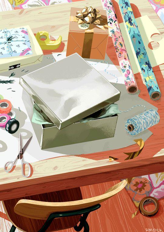 Illustrate by Rebecca Mock , keep an eye on the box.