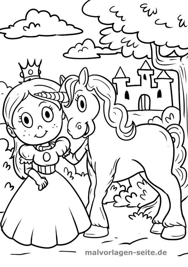 Ausmalbilder Einhorner Malvorlage Prinzessin Ausmalbilder Ausmalen