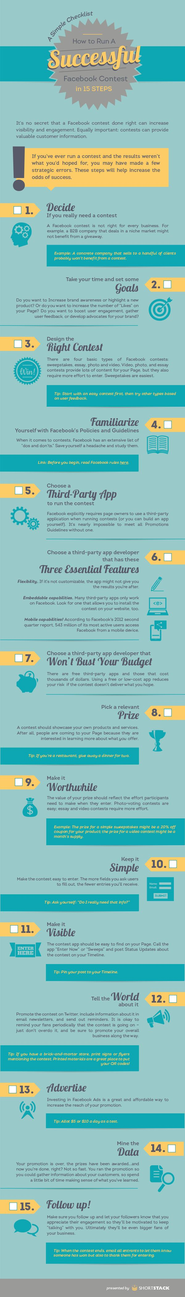 How to Run A Successful Facebook Contest #INFOGRAPHIC