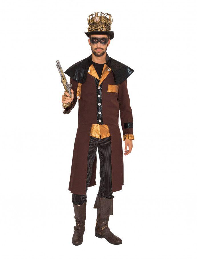 Herren Kostüm Steampunk Verkleidung Karneval Fasching WIL
