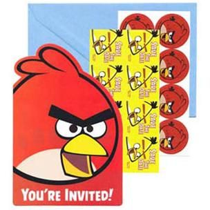 A491710 - Angry Birds Invitations.  Please note: approx. 14 day delivery time. www.facebook.com/popitinaboxbusiness