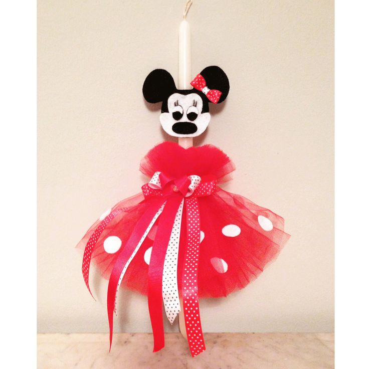 ACCESSORIES | Chryssomally || Art & Fashion Designer - Handmade Easter Minnie Mouse candle
