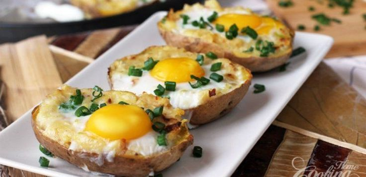 egg_potato   How to Make Twice Baked Potatoes With Egg Center