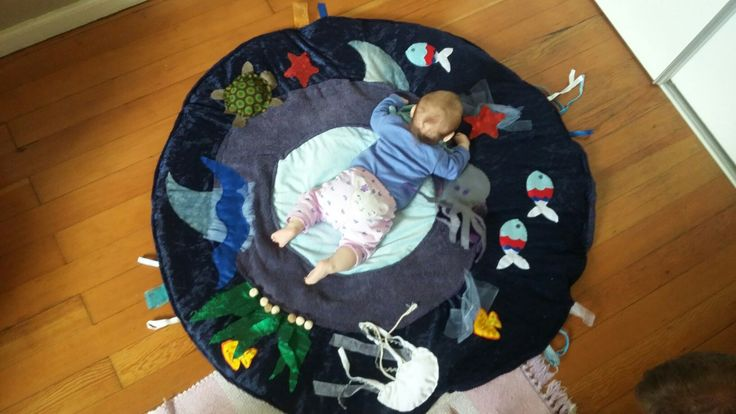 Texture play mat for baby - tummy time