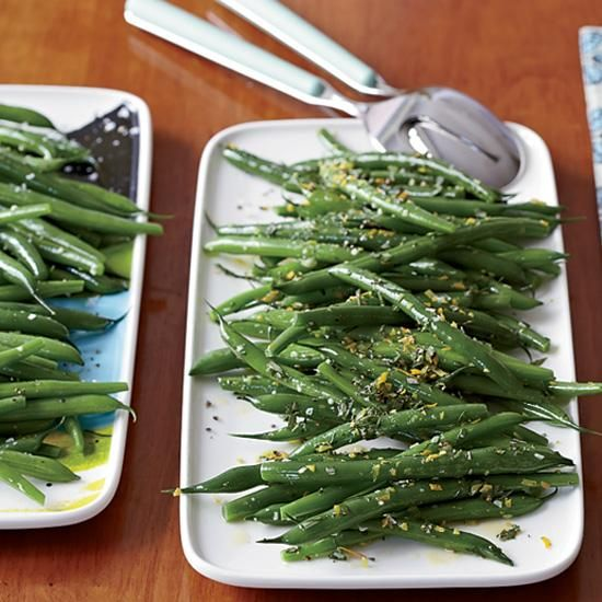 Green Beans Two Ways | Instead of just steaming or boiling green beans, Katie Workman first sautes them in butter and garlic, then simmers them in chicken broth. For adults, she adds fresh herbs and citrus--both zest and juice--giving the beans a fresh, vibrant flavor.
