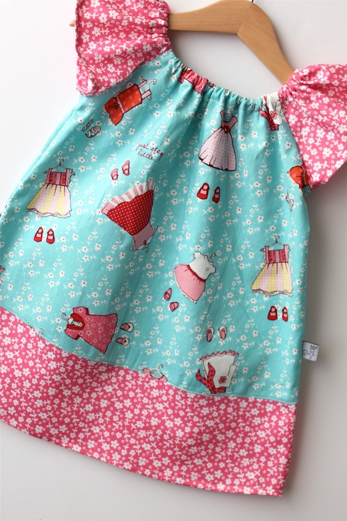 Flutter sleeve peasant dress like idea of different for Childrens dress fabric