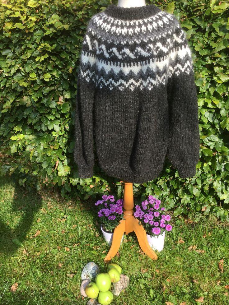HerreIslænder. En klassisk håndstrikket sweater af Organic Islandsk Uld