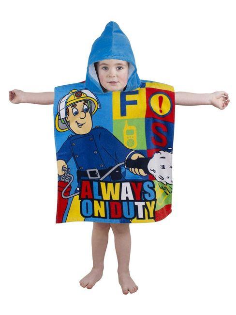 Fireman Sam Duty Hooded Towel Poncho. Matching items at Play Rooms