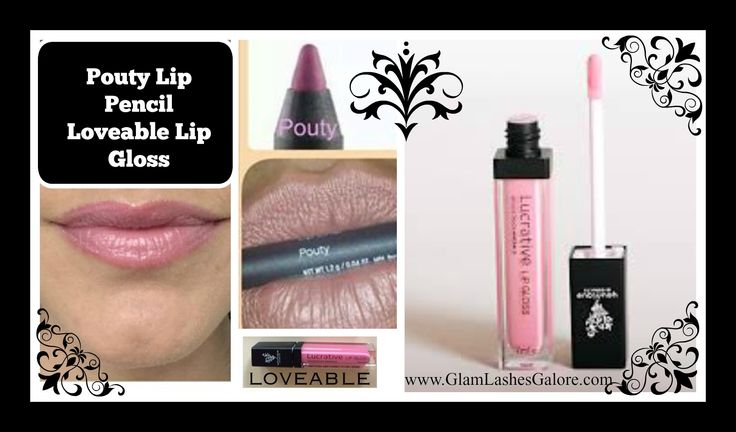 Pouty Lip Liner Pencil looks gorgeous with Loveable Lip Gloss!