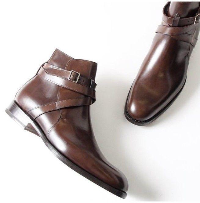 Handmade Men Brown Jodhpurs Boot, Men Brown Ankle Boot, Men Formal Boot #Handmade #AnkleBoots