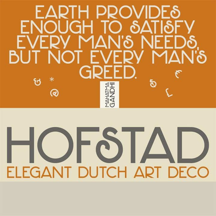 Hofstad font by Hanoded - modeled on a poster by famous Dutch graphic artist Jan Lavies (1902 – 2005).