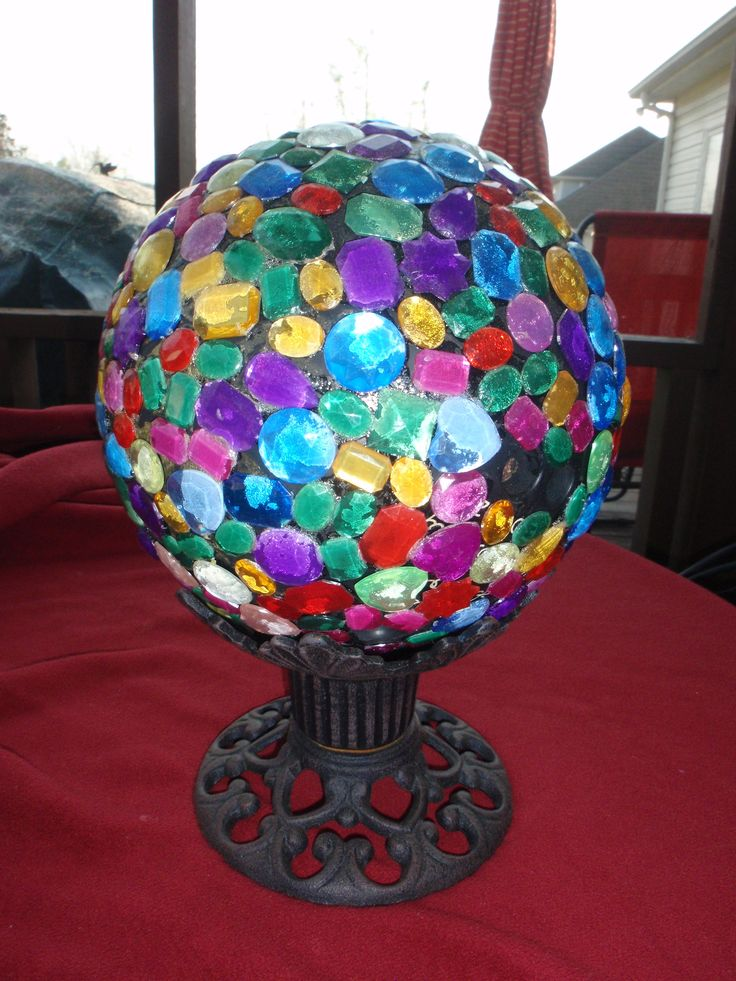 GAZING BALL   For Fairy Garden Something Like This In The Middle Of The  Azaleas For Her Imagination To Run Wild
