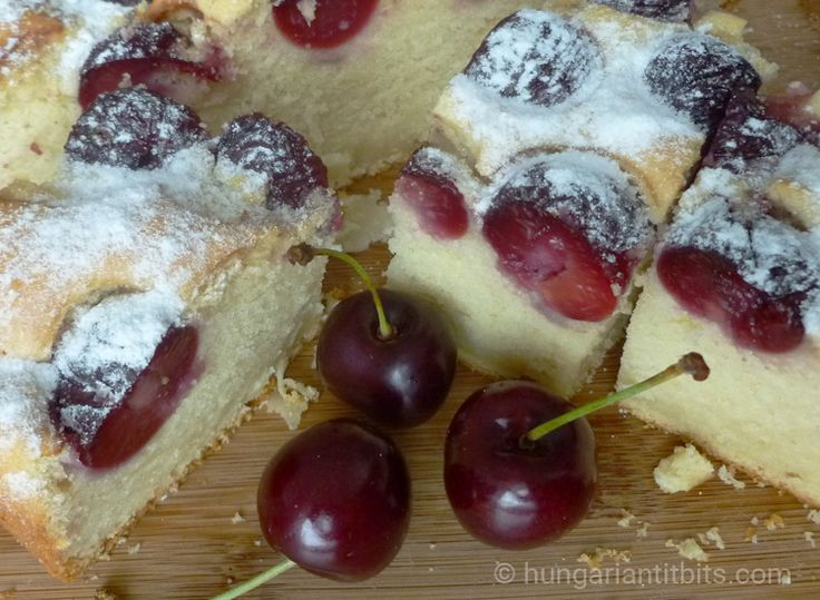 A delicious versatile cake to make with many seasonal fruits of the continental summer. Cherry or sour cherry being most popular but the apricot and plum ones are very nice too. These were often se…