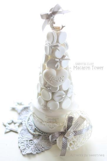◆2014年SWEETIE CLAY最後の作品はやっぱりマカロンタワーで♡  マカロンタワーSWEETIE CLAY本部・ポーセラーツ Atelier La CREA