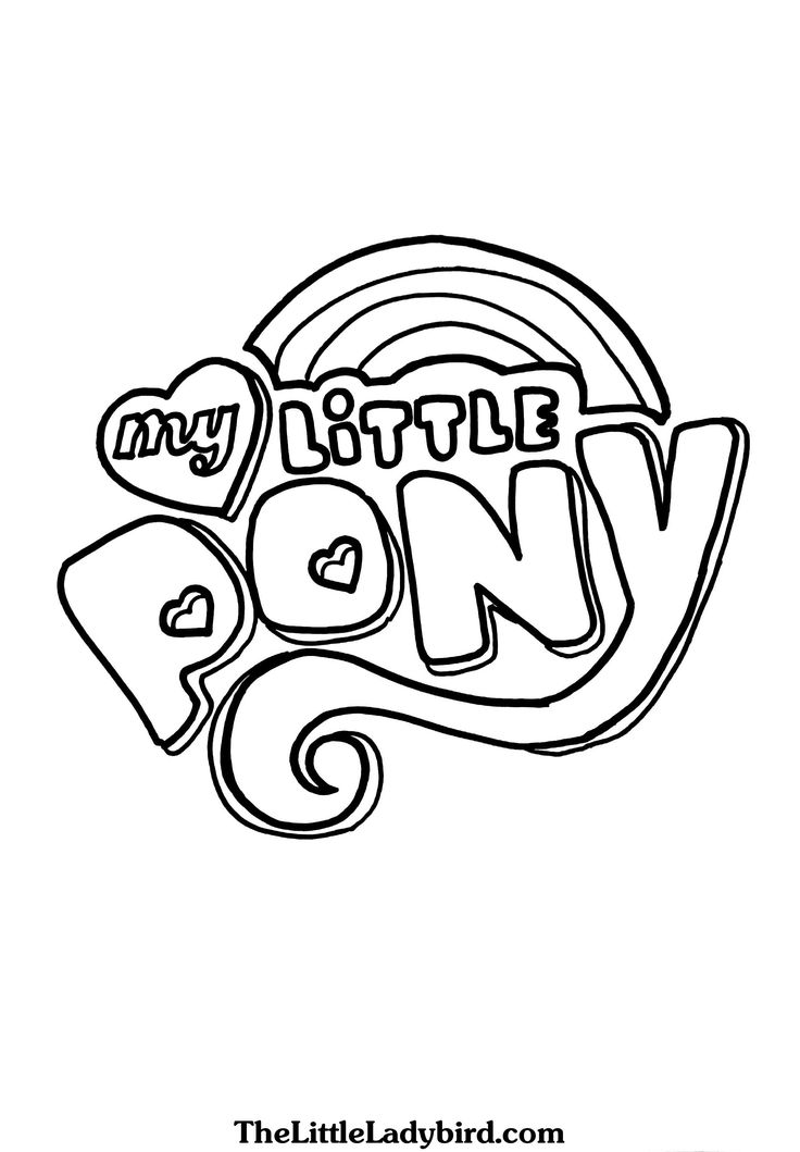 My Little Pony Logo Coloring Pages my little pony coloring