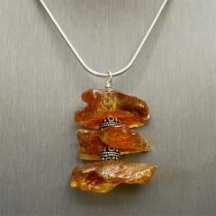 PENDANT - Amber, Sterling Silver