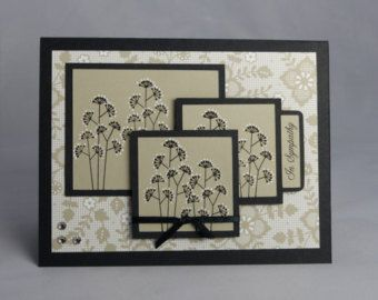 Stampin Up Handmade Greeting Card: Embossed by DawnsGreetingCards