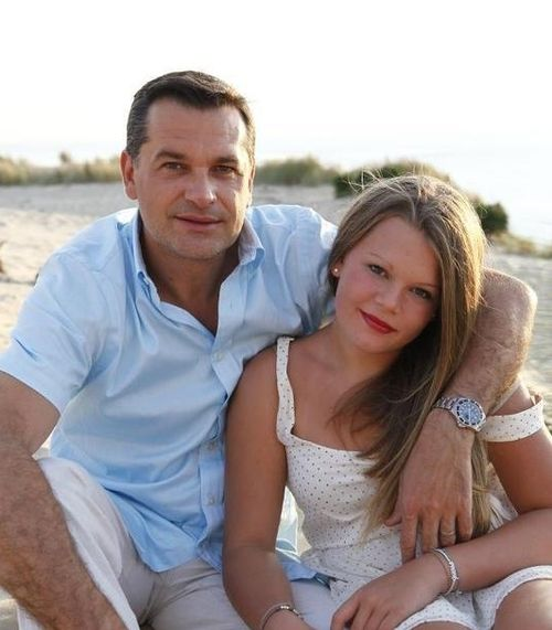 Camille Gottlieb with her father Jean Raymond Gottlieb, she is the - daughter of Princess Stephanie of Monaco