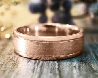 5.5MM Satin Finish with Polished Rim Wedding Band by stonesandgold
